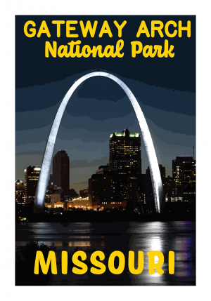 Gateway Arch National Park Poster